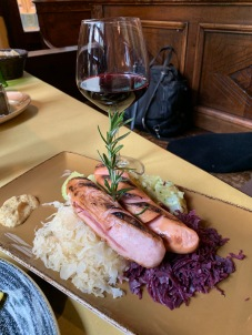 That's an appetizer. My friend took it as her first course. I love sauerkraut!